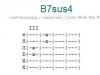 Аккорд b7sus4