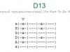 Аккорд d13