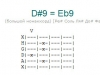 Аккорд d#9 = eb9