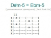 Аккорд d#m-5 = ebm-5