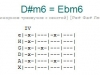 Аккорд d#m6 = ebm6