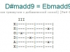 Аккорд d#madd9 = ebmadd9