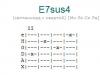 Аккорд e7sus4