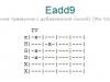 Аккорд eadd9