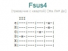 Аккорд fsus4