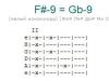 Аккорд f#-9 = gb-9