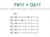 Аккорд f#11 = gb11