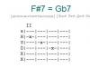 Аккорд f#7 = gb7