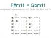 Аккорд f#m11 = gbm11