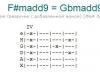 Аккорд f#madd9 = gbmadd9