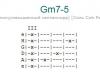Аккорд gm7-5