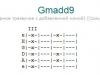 Аккорд gmadd9