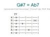 Аккорд g#7 = ab7