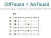 Аккорд g#7sus4 = ab7sus4