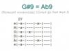Аккорд g#9 = ab9