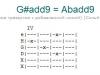 Аккорд g#add9 = abadd9