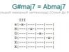 Аккорд g#maj7 = abmaj7