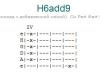 Аккорд h6add9
