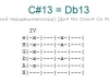 Аккорд c#13 = db13