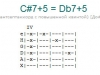 Аккорд c#7+5 = db7+5