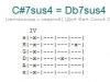 Аккорд c#7sus4 = db7sus4
