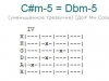Аккорд c#m-5 = dbm-5