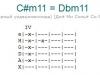 Аккорд c#m11 = dbm11