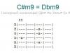 Аккорд c#m9 = dbm9