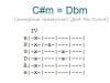 Аккорд c#m = dbm