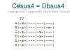 Аккорд c#sus4 = dbsus4