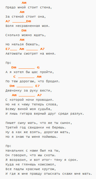 """Стена"", ПЕТЛЮРА, аккорды"