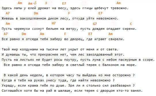 """""""Лирическая"""",(Высоцкий), текст и аккорды!"""