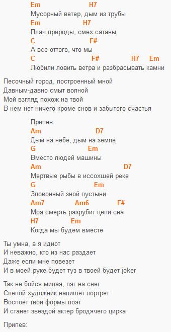 """""""Мусорный ветер"""", аккорды!"""