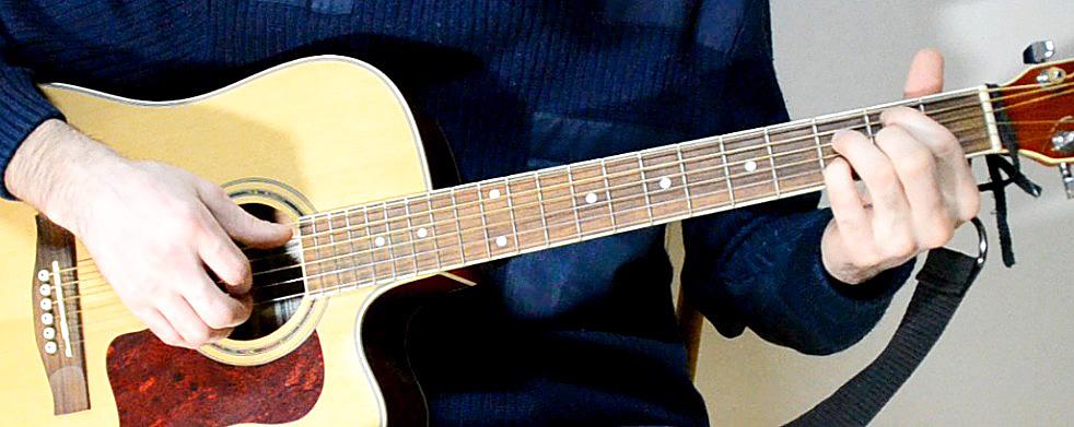Упражнение для пальцев на гитаре