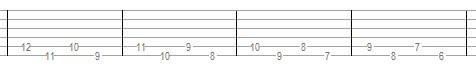 Упражнение для гитары - 3 (б)