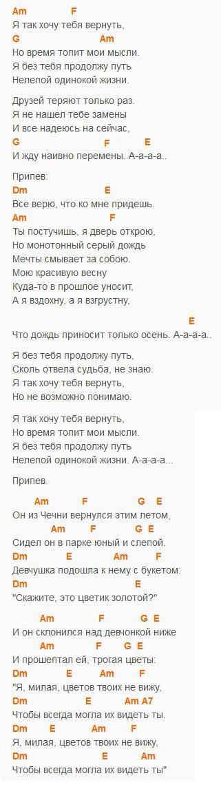 Надежда на сейчас - Мидан - Текст и аккорды
