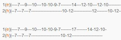 Хали - Гали - Леприконсы - табы для второй гитары