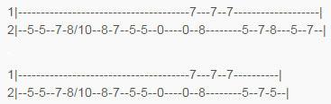 Тыбы для второй гитары к песне На безымянной высоте