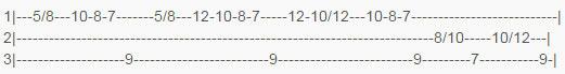 Табы для второй гитары  к песне Солдат