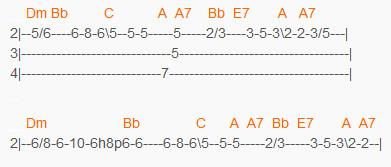 Зеленоглазое такси - Боярский - табы для второй гитары