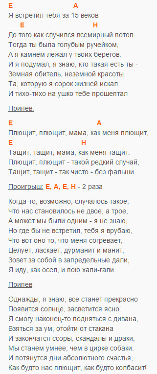 Плющит - Gonja - Аккорды и текст