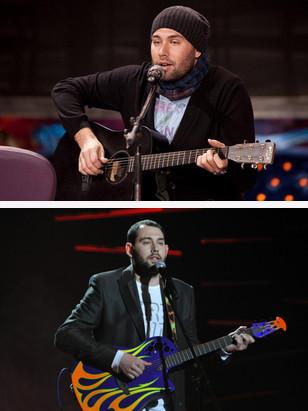 Семен Слепаков играет на гитаре - фото