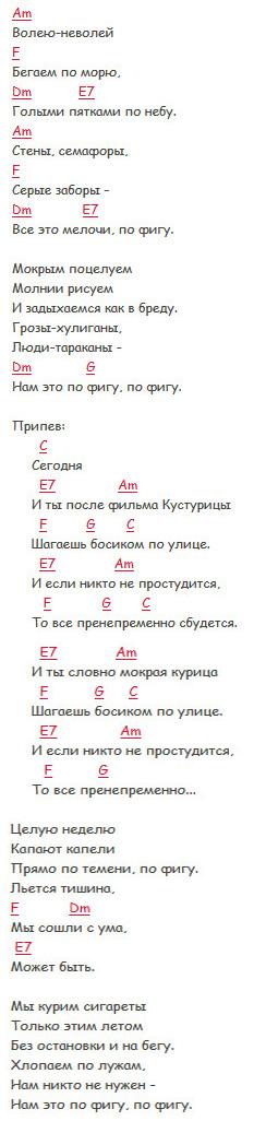 Кустурица - Братья Гримм - Аккорды в Аm и текст