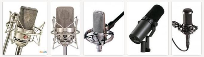 Виды студийных микрофонов