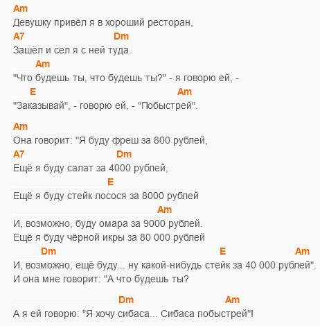 Сибаса побыстрей - Эдуард Суровый - Аккорды и текст