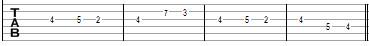 Закат - Ария - табы второй гитары в проигрыше