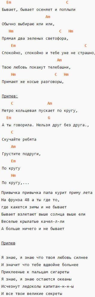 Кольцевая---Звери---Аккорды-и-текст