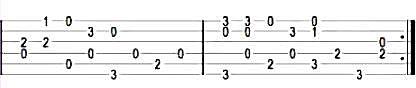 Jingle Bells - Табы в До-мажор для гитары 2