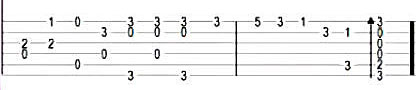 Jingle Bells - Табы в До-мажор для гитары 3