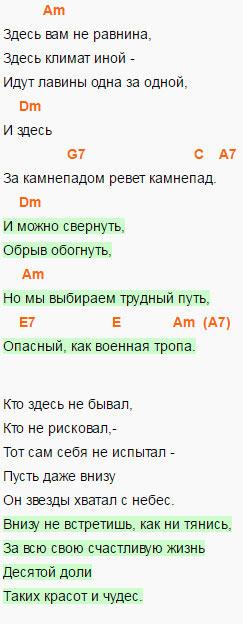 Высоцкий - Вершина - Аккорды и слова песни
